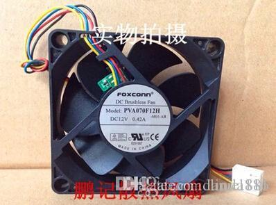 FOXCONN PVA070F12H 12V 0.42A 7CM 7020 4llines PWM CPU fan