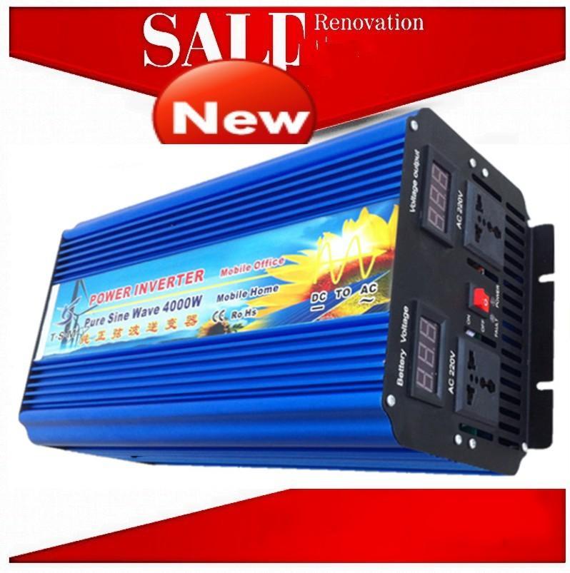 DHL FedEx UPS spedizione gratuita 8000W Picco 4000 W 24 V CC 110 V / 120 V / 220 V / 230 V CA 50 Hz / 60 Hz Picco di potenza 8000 W Off-grid Puro onda sinusoidale solare Inverter