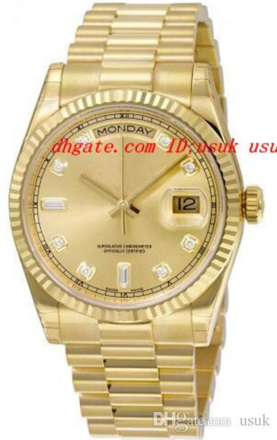 Orologi di lusso di alta qualità quadrante champagne oro giallo 18 carati Movimento meccanico automatico orologio da uomo Orologio da polso da uomo CDP