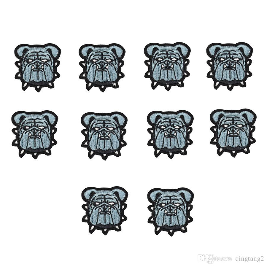 10PCS dog patches for clothing iron embroidery patch for clothes applique sewing accessories stickers badge on clothes iron on patches DIY
