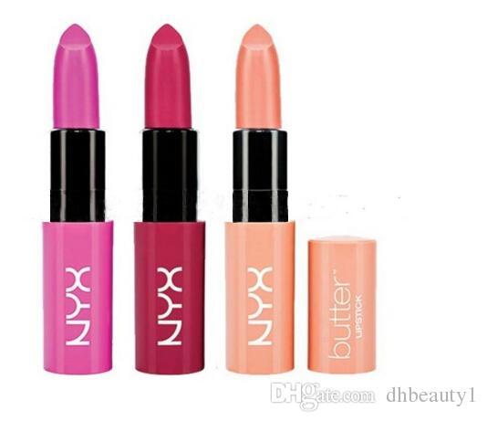 NYX Butter Mate Lipstick 12 Colors Batom Makeup Long-lasting Lipstick Tint Lip Gloss Stick Brand Maquillage