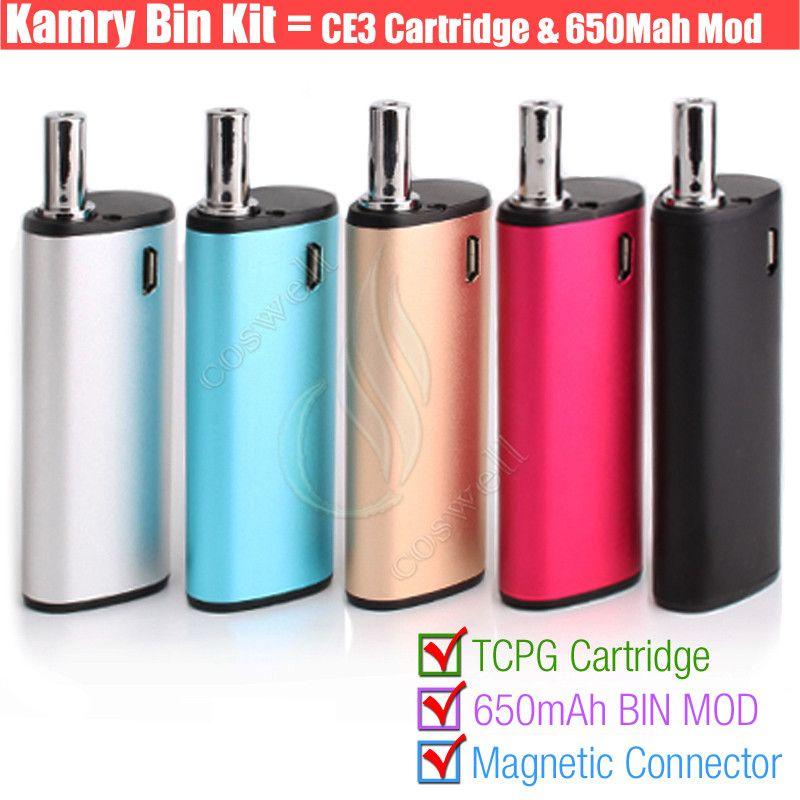 Original Kamry BIN 510 cartridge Vape pen Thick Oil BUD CE3 PE Tank BIN Box Vapor Mod Portable kits Atomizers Portable Mini Vaporizers DHL