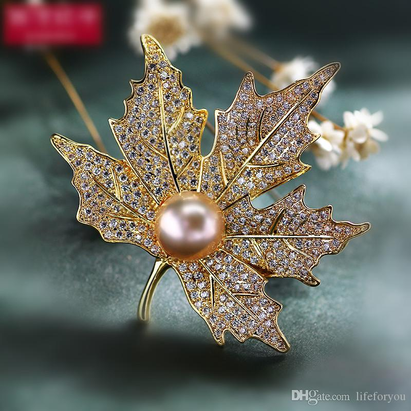 Vintage Rhinestone Brooch Pin Gold-plate Alloy Pearl Faux Diamente Broach corsage for bridal wedding invitation costume party dress pin gift