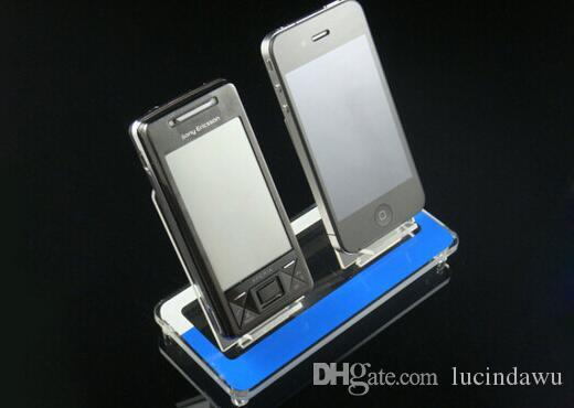 2 Trays Acrylic cell phone MP3 holder digital product display rack desktop showing display stand phone holder rack