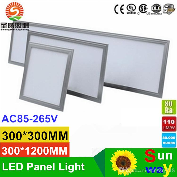 Luce di pannello ultrasottile LED 300 * 300 600 * 600 300 * 1200 600 * 1200 millimetro 24W 36W 48W 54W 80W Cucina Bagno Led soffitto luci di pannello CA 110-240V