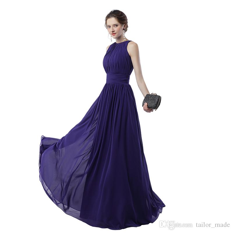 Real sample Regency Formal Evening Party Gowns 2019 A Line Sleeveless Free Shipping and Fast Delivery Cheap Long Prom Dress