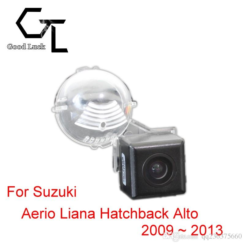 Para Suzuki Aerio Liana Hatchback Alto 2009 ~ 2013 Auto para automóvil inalámbrico Marcha atrás reversa CCD HD Visión nocturna Cámara de visión trasera