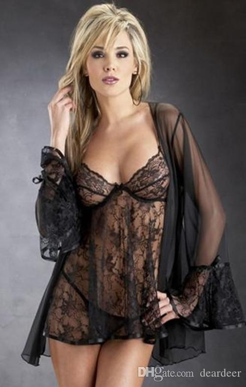 prevalent online for sale how to get 2019 Deardeer Sexy Lace Lingerie Steel Holder Transparent Wedding Lingerie  Dreams Bridal Sleepwear Robe Sleepwear/Nightgown For Women Puas Size From  ...