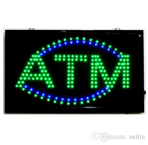 Wholesale-High Quality Animated LED ATM LED Neon Sign Bright Flashing Colour LED ATM Sign Display Hanging Light