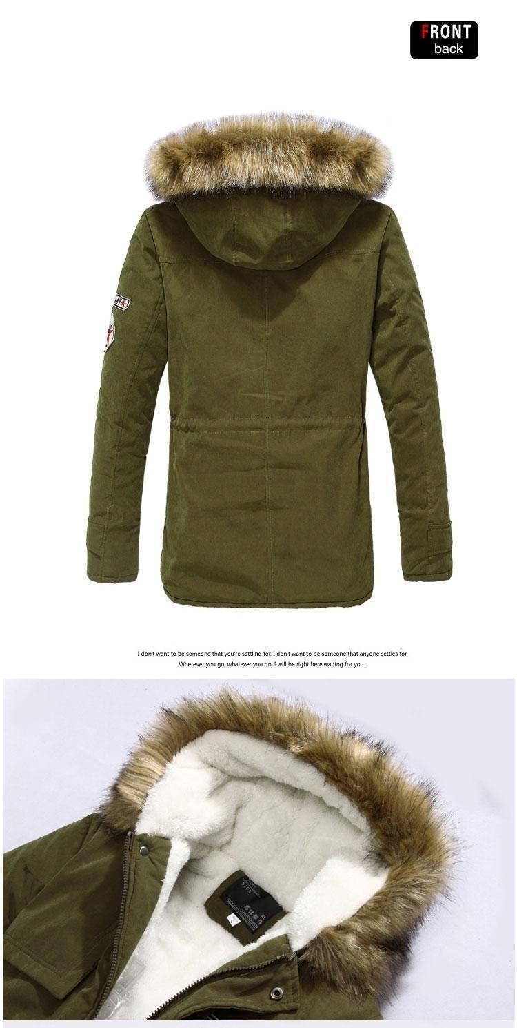 Großhandel X201711 Parka Männer Mäntel Winterjacke Männer Dünne Verdicken Fell Mit Kapuze Outwear Warmen Mantel Top Marke Kleidung Lässig Herren