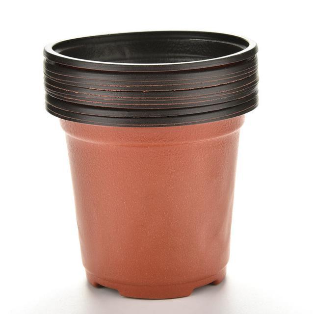 100pcs Garden Pot Soft Plastic Flowers Plants Seedlings Nursery Pots 10x7x8.5cm Flowerpot free shipping