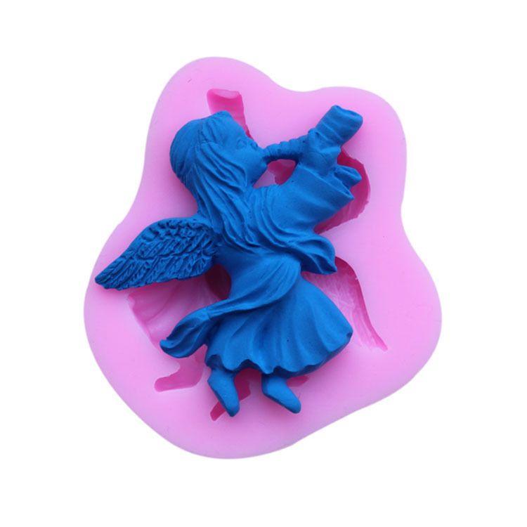 Angel Horn Silicone Mold Cakevorm Siliconen Bakken Gereedschap Keuken Accessoires Decoraties Fondant Tool TY1775