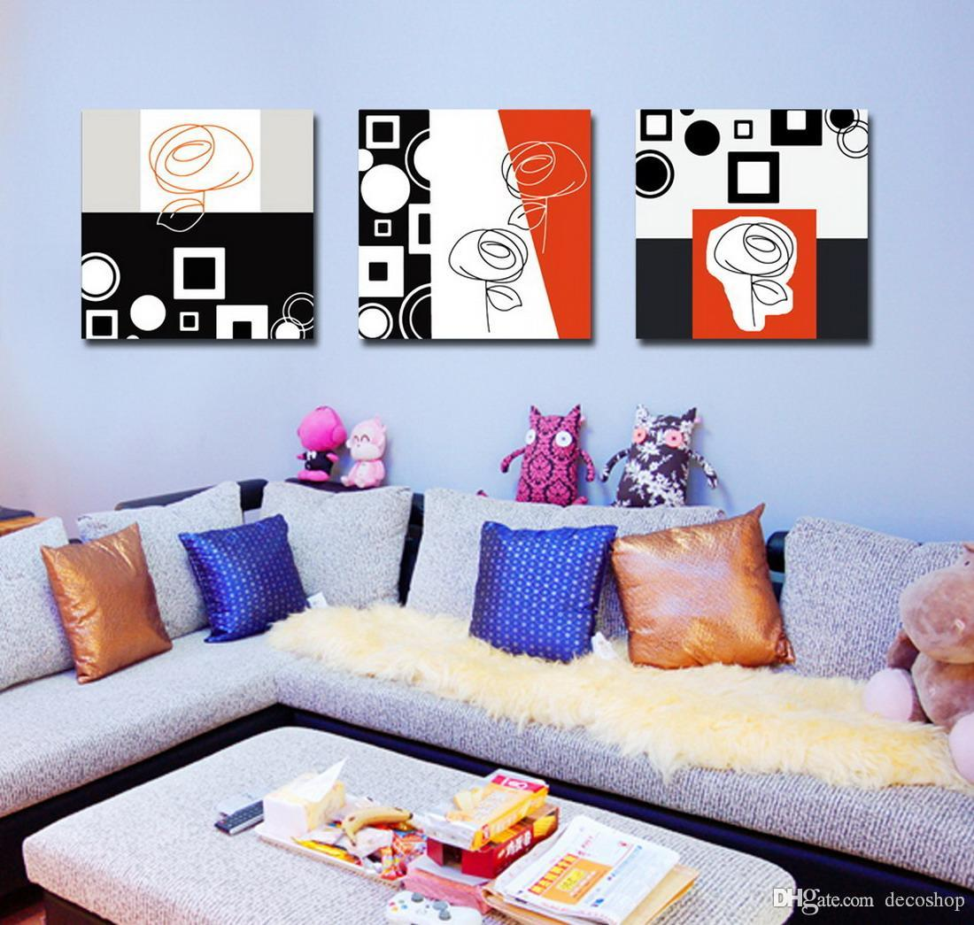 Modern Fine Abstract Painting Giclee Print On Canvas Wall Art Home Decoration Set30147