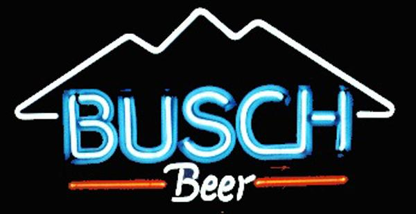 "Busch Beer Mountain Neon Sign Handcrafted Custom Real Glass Tube Store KTV PUB Club Beer Bar Advertising Display Neon Signs 17""X10"""