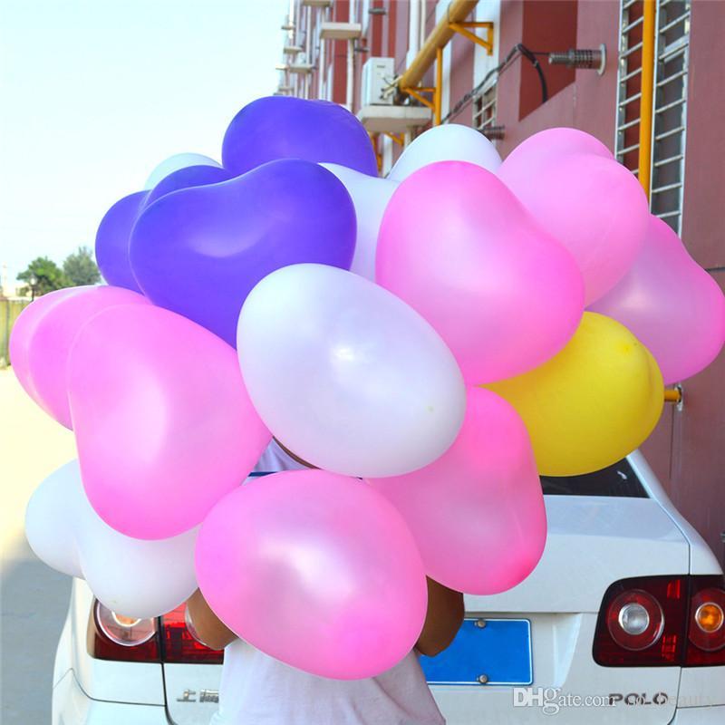 100pcs lattice a forma di cuore palloncino colori palloncini perla palloncini festa di compleanno buon compleanno anniversario 10 pollici nuovo