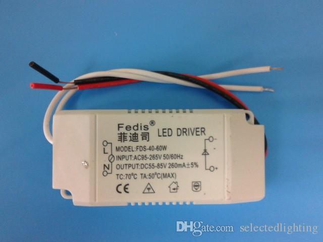Atacado de Alta Qualidade 40-60 W Fonte de Alimentação LED Driver Transformador Adaptador Interruptor Para Tira CONDUZIDA LED lâmpadas de teto