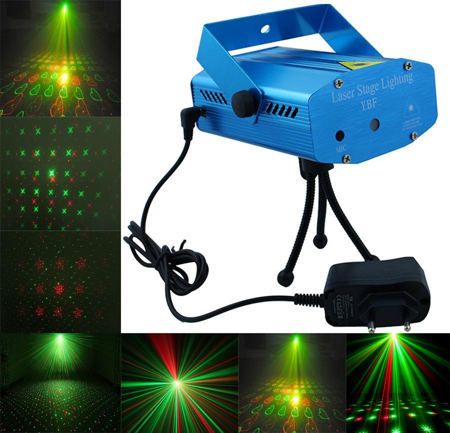 Tatil Satış Mini Lazer Sahne Aydınlatma GreenRed LED Lazer DJ Parti Sahne Işık Siyah Disco Dance Floor Işıklar