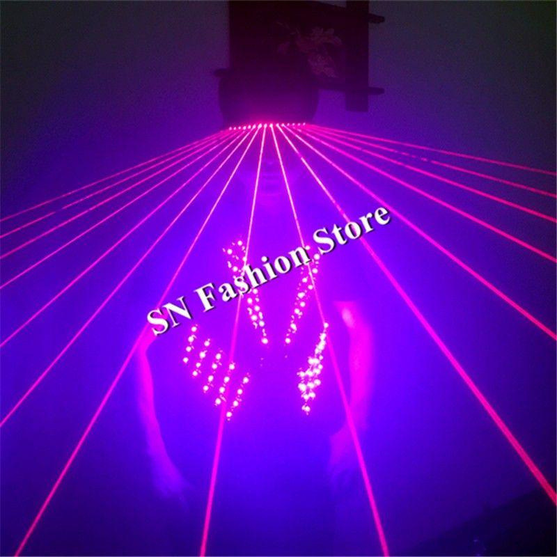 T17 Colorful led light ballroom costume RGB light dance dress wears led costume dj clothes bar vest laser glasses disco props
