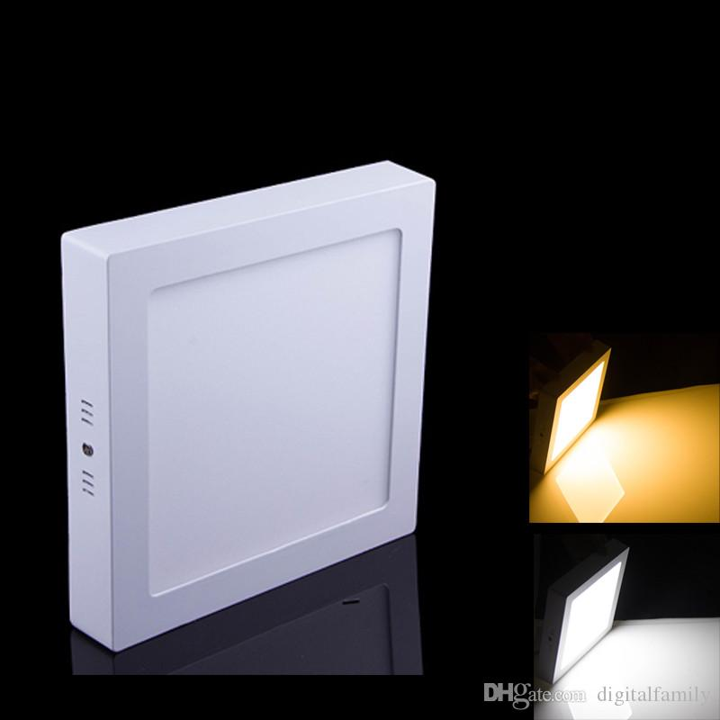 Новые 10 Вт/15 Вт/25 Вт круглый / квадратный поверхностный светодиодный светильник светодиодные потолочные лампы кухня AC 85-265V + драйвер бесплатная доставка