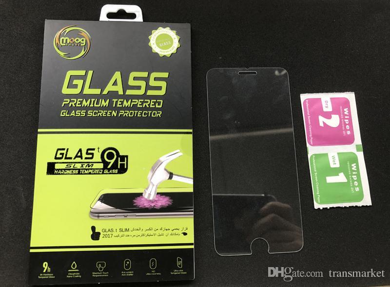 HD Clear Ekran Koruyucu için iphone 8 7 artı 0.3mm 2.5D Temperli Cam Koruyucu Film iphone 7 6 6 s Artı 8 S8 S8 artı note8