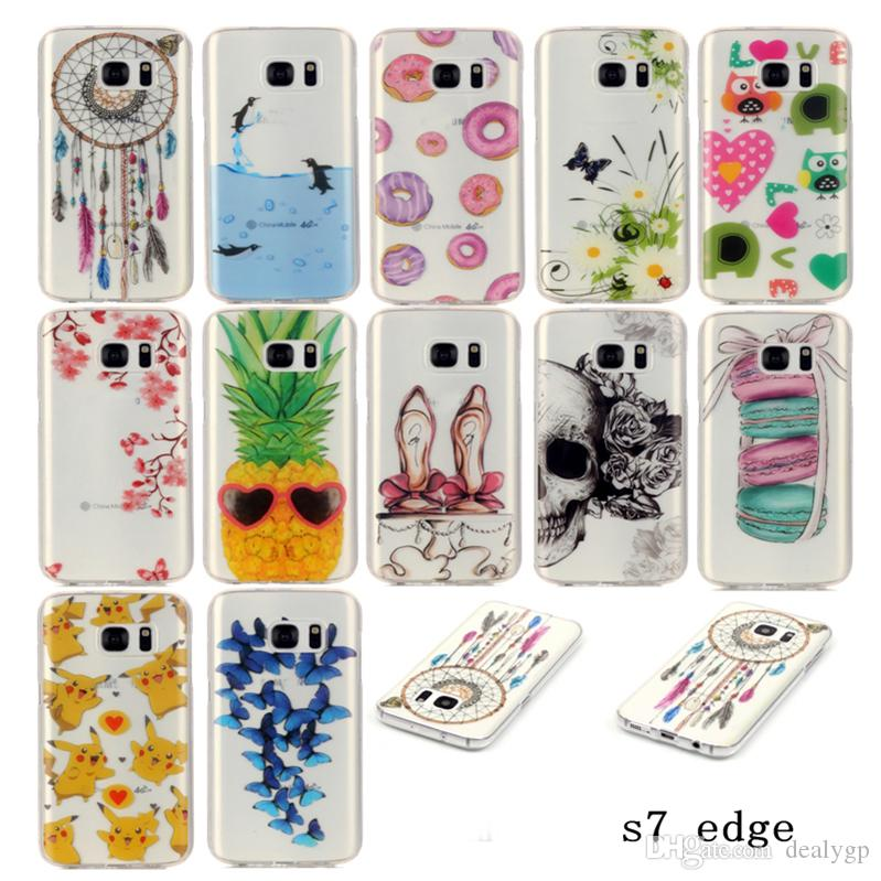 DHL Free Painting Colorful Cute Bird Pattern Soft Clear TPU Phone Case Cover For Samsung Galaxy J5