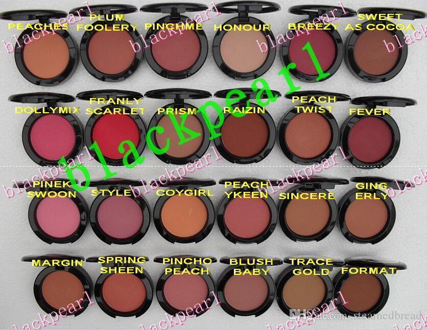 24 PCS FRETE GRÁTIS 2016 MAQUIAGEM Menor NOVO produto Shimmer Blush 24 cor Sem espelhos não brus 6g Inglês Nome