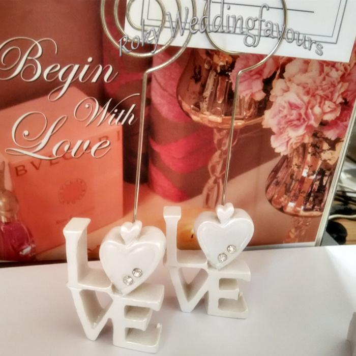 Heart Love Place Card Holder Favors Love Card Holder Table Setting