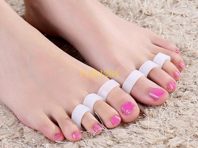200 pcs (= 100 pares) frete grátis separador de dedo do pé do dedo do pé do dedo do pé separador de dedo ferramentas ferramentas joanete pé hálux valgo