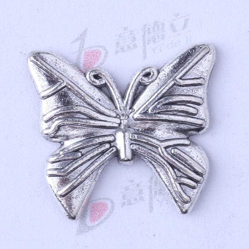 Papillon antique argent / bronze classique bricolage pendentif fit bracelets collier charmes des bijoux en métal faisant 200pcs / lot 3462