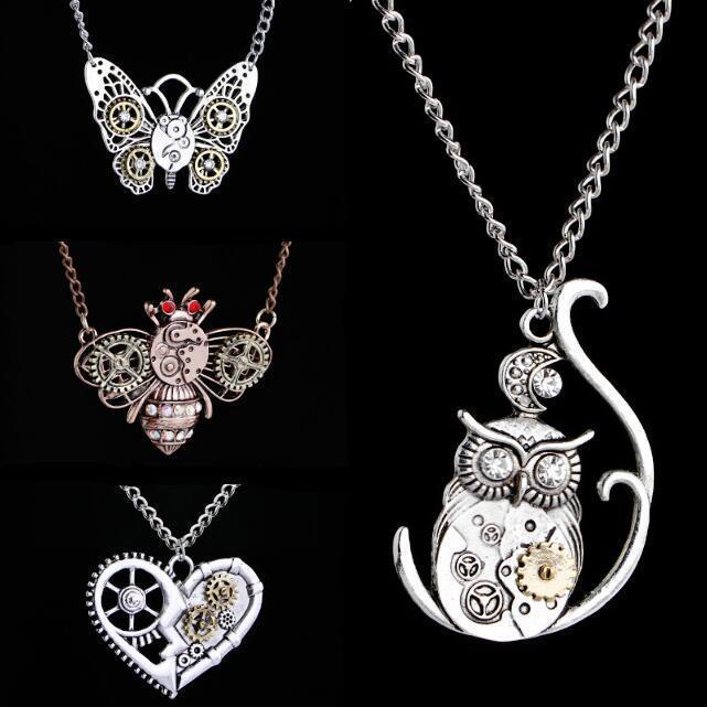Di modo del pendente farfalla / gufo Bee collare del Choker collana dei monili delle donne per la ragazza festa di compleanno gli accessori della collana all'ingrosso