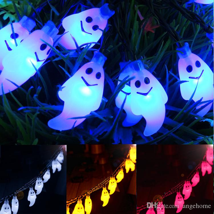 Hallowwen Christmas Solar Outdoor String Light 30 LED Lights Ghost Solar String Waterproof Lights for Garden Patio Yard