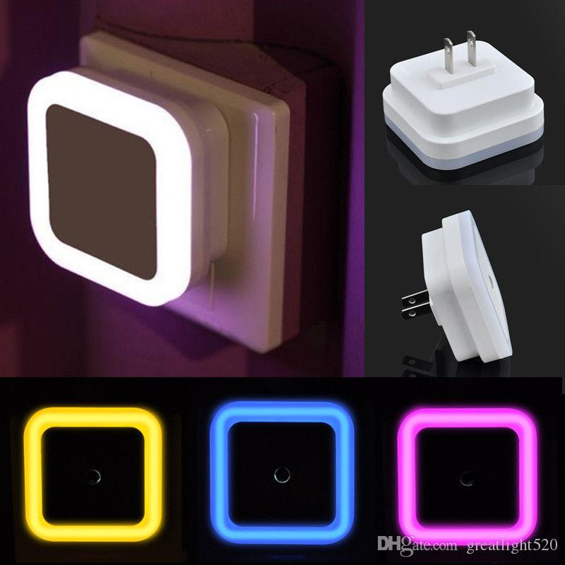 6 Induction Sensor Control Auto Led Light Us Plug Bedside Night Light Wall Lamp Home Garden Lamp