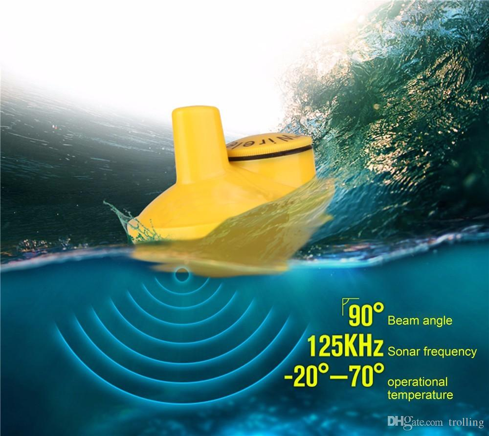 18pcs/lot Wholesale Wireless Remote Fishing Sonar Sensor for Fish Finder FFW-718 sound fish detector Alarm Fly fishing tackle