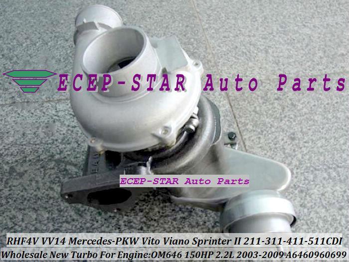 RHF4 VNT VV14 VF40A132 A6460960199 A6460960699 Turbo Für Mercedes-PKW Vito Viano Sprinter II 211 CDI 311 CDI 411 CDI 511 CDI 2003-09 OM646 2.2L