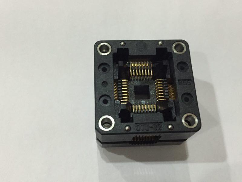 Enplas QFP32PIN IC Gniazdo testowe OTQ-32-0.8-02 0,8 mm Piżączkę Nagraj w gnieździe.