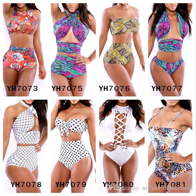 7fd91985b459e ... Sexy girl high waist swimsuit push up bikini women bathing suit Floral  Print bikini 2016 swimwear ...