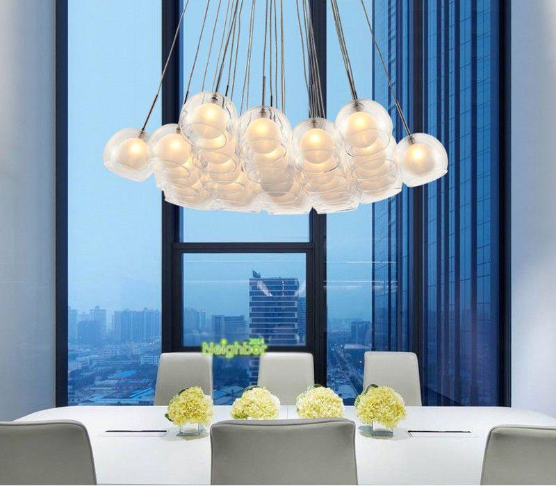 Großhandel Clear Glass Bubble Ball Moderne Pendelleuchte ...