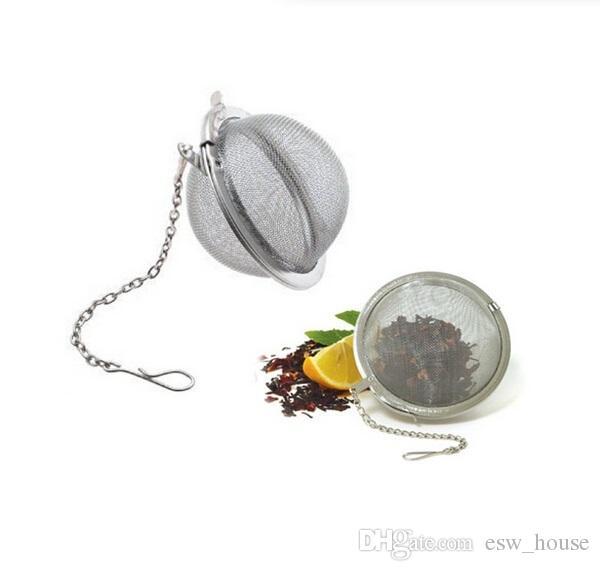 Tè in acciaio inox infusore sfera Sphere Locking Spice Tea Ball Strainer maglia infusore filtro del tè filtro infusor spedizione gratuita