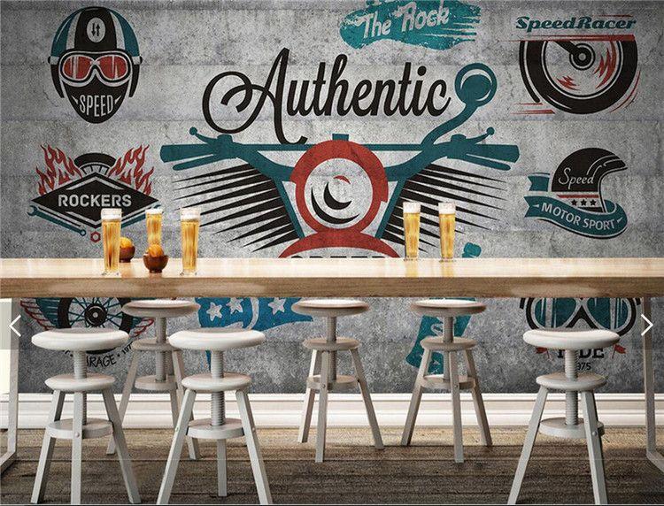 Großhandel Europäische Vintage Tapete Graffiti Foto Wandbild ...