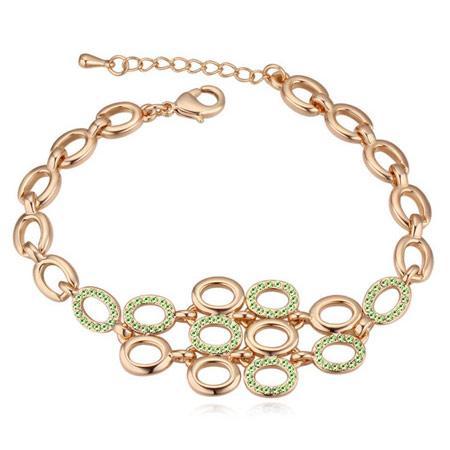 Raffinatezza di fascia alta Romantico OL di cristallo austriaco Bolla ovale Moda Accessori per gioielli fini Bracciali a catena per le donne