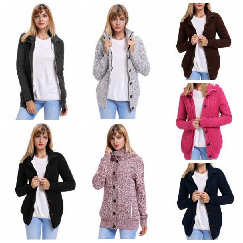 Knitted Sweaters Winter Jackets Women Crochet Cardigan Lady Fashion Coat  Hoodies Pullover Loose Outerwear Blusas Tops Women\u0027S Clothing C3078 Jacket
