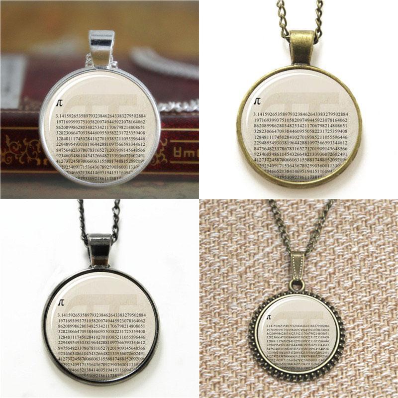 10pcs Pi Mathe Anhänger Glas Halskette Schlüsselanhänger Lesezeichen Manschettenknopf Ohrring Armband