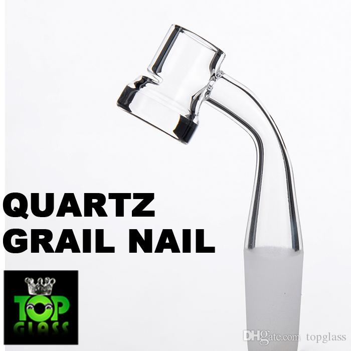 Exclusive Frosted Joint 45 Degree Grails Quartz Banger Nail With Slit 5mm Thick Bottom 10mm 14mm 19mm Female Joint