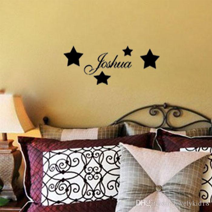 Custom Made Name Stars Wall Stickers Personalized Name Wall Decal ...