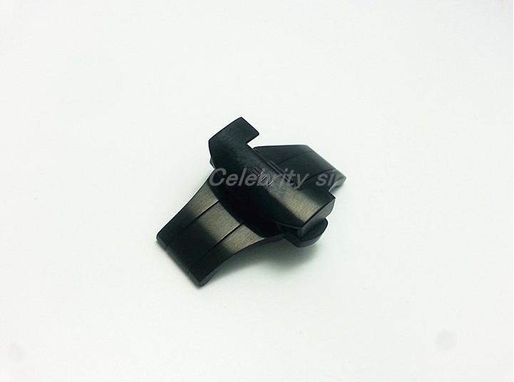 de acero de 22 mm NUEVA alta calidad en acero negro Scrub despliegue macizo pulido doble de la mariposa de la hebilla de correa de la correa de cierre BAND para Panerai