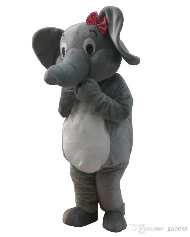 Professioneller neuer Elefant-Maskottchen-Kostüm-Karikatur-Anzug