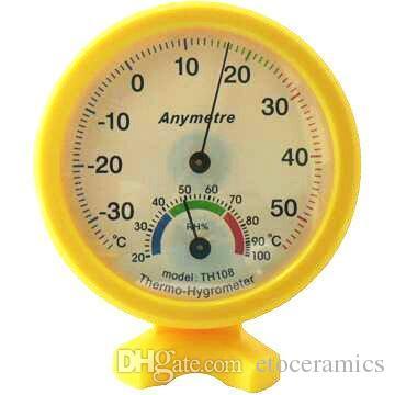 Frete Grátis Mini Indoor Termômetro Higrômetro Temperatura Da Parede Medida-TH108