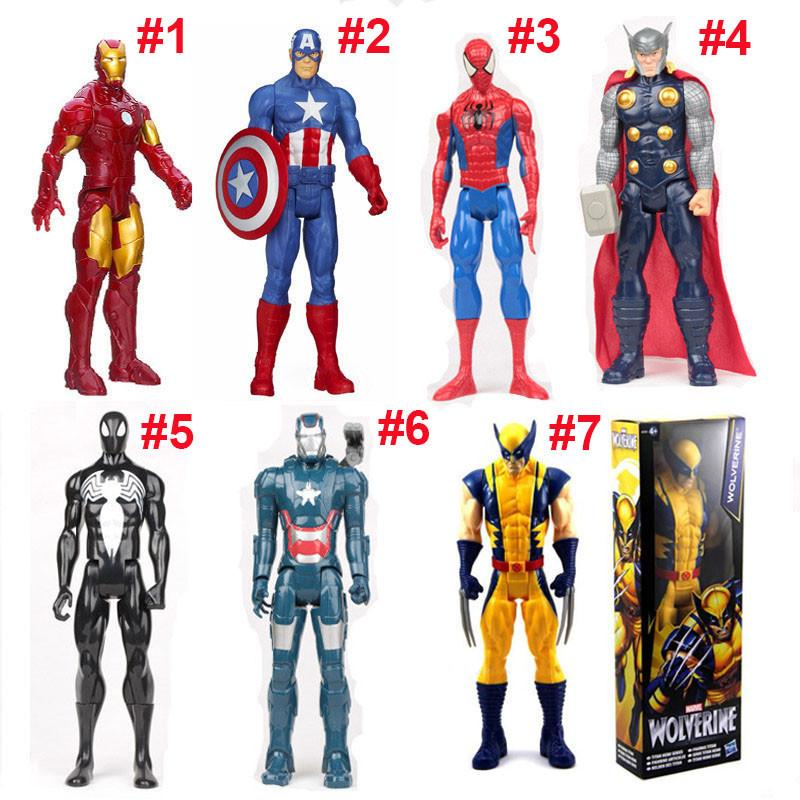 Acheter Avengers Pvc Figurines Marvel Heros 30 Cm Iron Man Spiderman Captain America Ultron Wolverine Figure Jouets Oth025 De 6 03 Du Superbestway