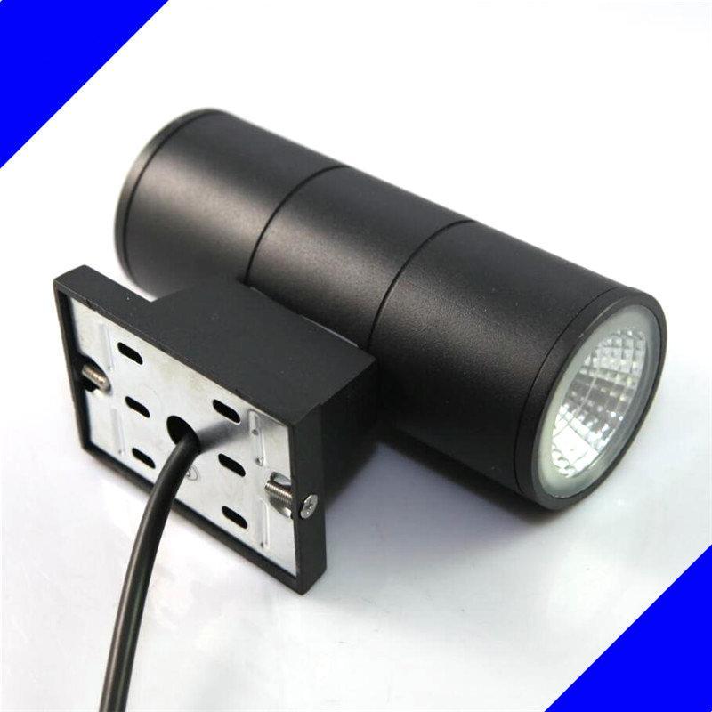 무료 배송 오년 보증 크리 COB 2 * 7W 더블 LED 실외 벽 빛 / 2 * 7W 실내 LED 벽 램프 야외 방수 IP65