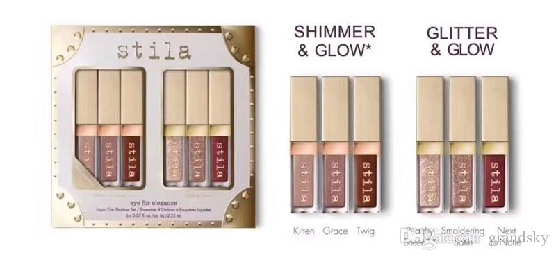 Eye Shadow Liquid Eye Shadow Set Eye for Elegance Sei colori Shimmer Glow / Glitter Glow Eyeshadow Alta qualità